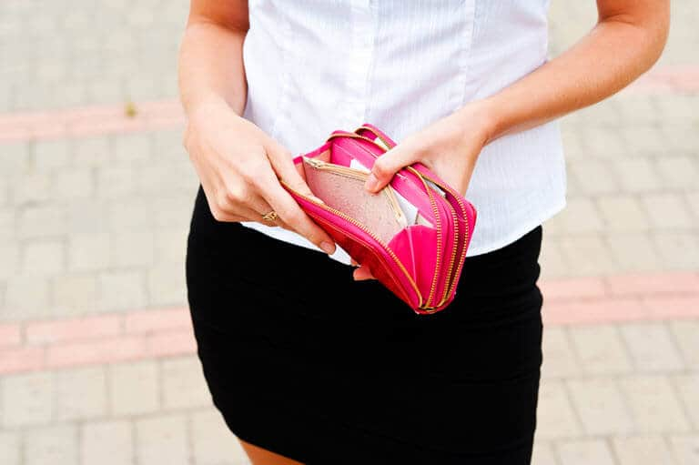A Lady With An Empty Wallet