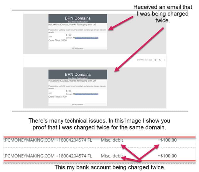 Charged Twice For One Domain